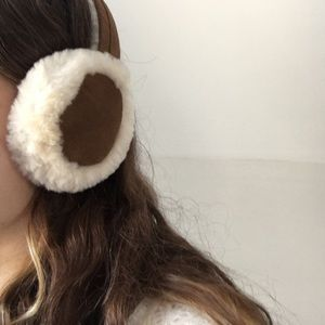 UGG Australia leather & wool earmuffs